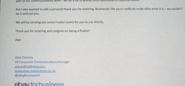 BG Bikes selected as Finalists for eBay Business Awards 2017